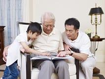 Famille de trois générations Photo stock
