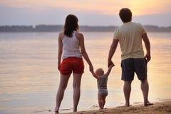 Famille de trois heureuse Photo libre de droits