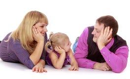 Famille de trois heureuse Photos libres de droits