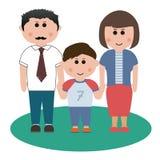 Famille de trois membres Illustration Stock