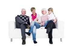 Famille de trois rétablissements Image stock