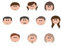 Famille de trois rétablissements Illustration Libre de Droits