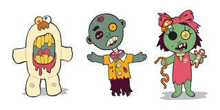 Famille de zombi Image stock