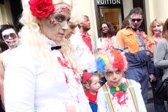 Famille de zombi Photos libres de droits