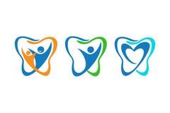 Famille dentaire de dent illustration de vecteur