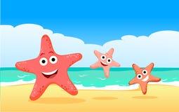 Famille des étoiles de mer Photos stock