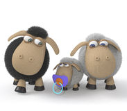 Famille des agneaux Photos libres de droits