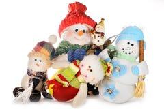 Famille des boules de neige Photographie stock libre de droits
