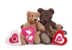 Famille des ours de nounours Photo stock