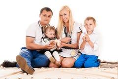 Famille des vacances avec des enfants Photo stock