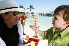 Famille des vacances en Floride Images libres de droits