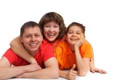 Famille drôle Photos libres de droits