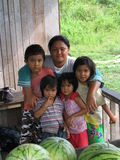 Famille du Bornéo Image stock