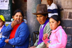 Famille du Pérou photo libre de droits