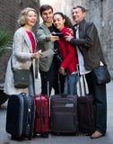 Famille du selfie quatre de prise dehors Photographie stock libre de droits