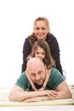 Famille empilée Images libres de droits