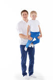Famille en bonne santé heureuse Images libres de droits