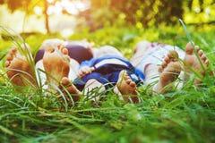 Famille en bonne santé Images stock