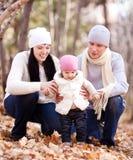 Famille en stationnement Photo stock