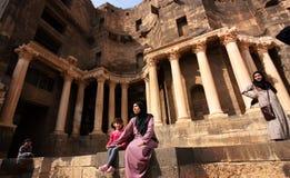 Famille en Syrie, Moyen-Orient Images libres de droits