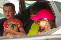 Famille en voyage d'été Images libres de droits