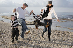 Famille espiègle Image stock