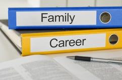 Famille et carrière Photo stock