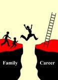 Famille et carrière Image libre de droits