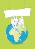 Famille et environnement illustration libre de droits