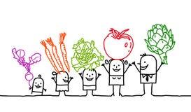Famille et légumes Image libre de droits