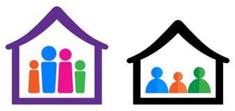 Famille et maison Image stock