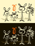 Famille et Pâques Image stock