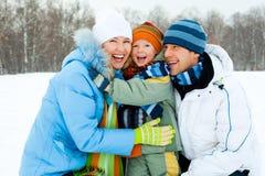 Famille extérieur Photos libres de droits