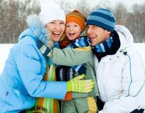 Famille extérieur Image stock
