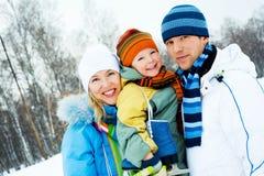 Famille extérieur Image libre de droits