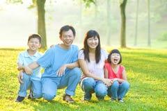 Famille extérieure Images libres de droits