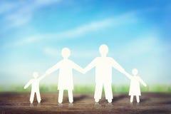 Famille forte heureuse Photos libres de droits