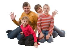 Famille gaie images libres de droits