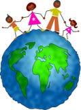 Famille globale illustration stock