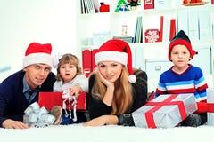 Famille heureuse photo stock