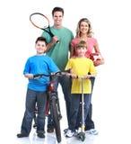 Famille heureuse. Image libre de droits