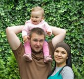 Famille heureuse photographie stock