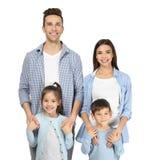 Famille heureuse avec de petits enfants Photographie stock