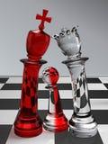 Famille heureuse d'échecs Photo stock