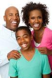 Famille heureuse d'afro-américain Photos libres de droits