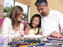 Famille heureuse de la maison Photos libres de droits