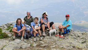 Famille heureuse en parc national de Gennargentu Photos stock