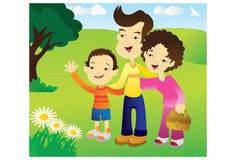 Famille heureuse en stationnement Photos libres de droits