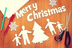 Famille heureuse et Noël Image libre de droits