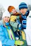 Famille heureuse extérieure Photographie stock libre de droits